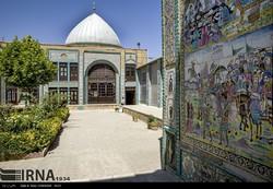 A view of Takieh Mo'aven al-Molk, a sacred Shia shrine in Kermanshah, western Iran