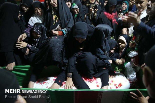 مراسم وداع با پیکر مطهر شهید مدافع حرم علی سلطانمرادی