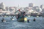 کاروان دریایی شکست محاصره غزه به راه افتاد