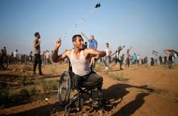 ادامه تظاهرات فلسطینیان در نوار غزه