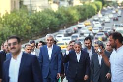بازدید شهردار تهران از پروژه های شهری