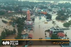 ہندوستان میں بارشوں اور سیلاب سے وسیع پیمانے پر تباہی