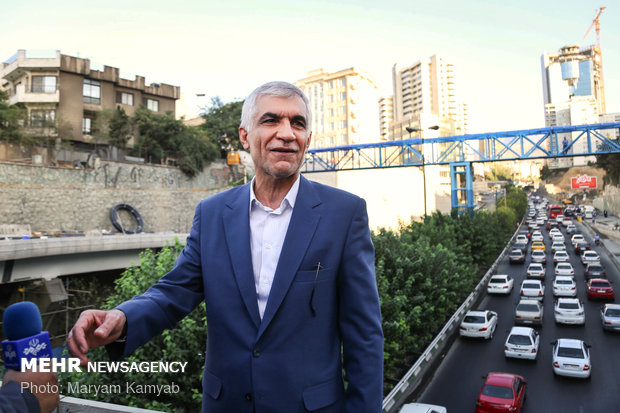 Tehran Mayor visits urban projects