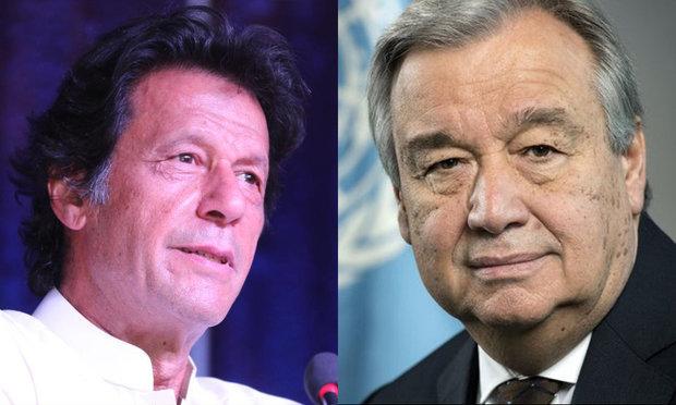 اقوام متحدہ کے سکریٹری جنرل کی عمران خان کو مبارکباد