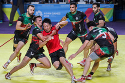 Iran vs Japan in men's Kabaddi of 2018 Asian Games