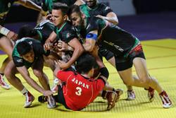 ایران اور جاپان کی کبڈی ٹیموں کے درمیان مقابلہ