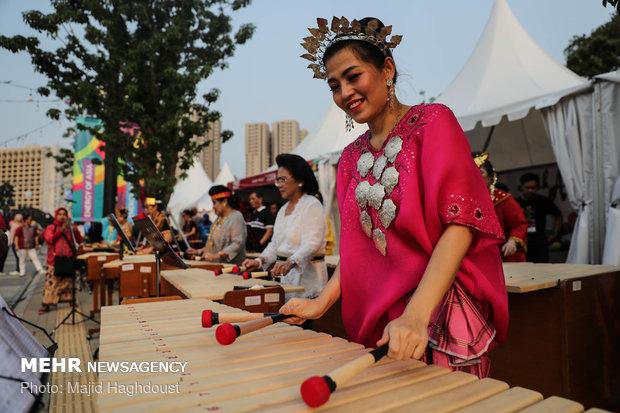مراسم أفتتاحية الالعاب الاسيوية 2018 في أندوسيا