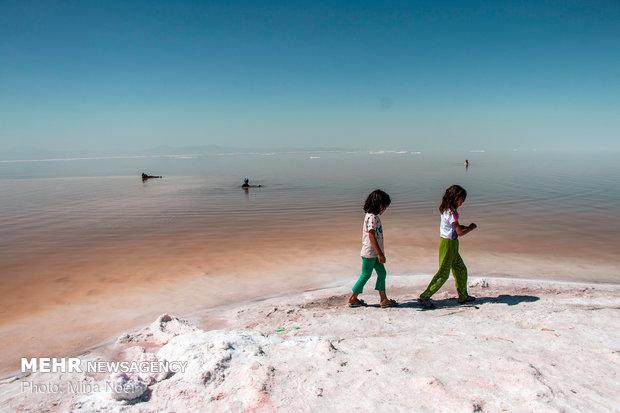 Lake Urmia in summer