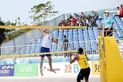 Iran beach volleyball team beats East Timor in Asian games