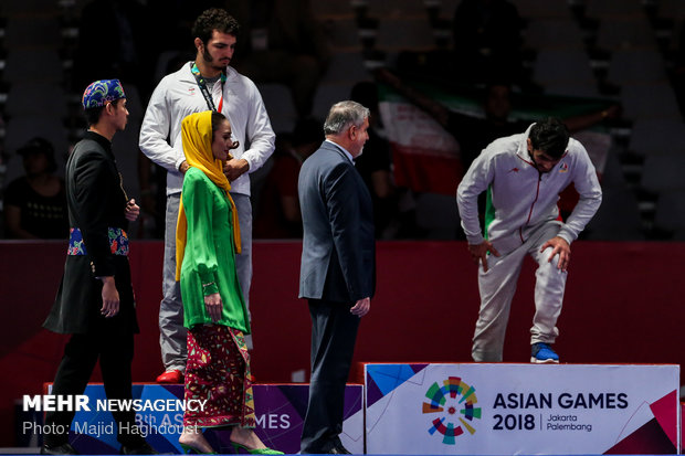 Highlights of freestyle wrestling at 18th Asian Games