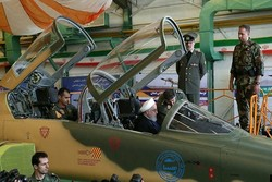 VIDEO: Rouhani attends test-flight of fighter/trainer jet Kowsar