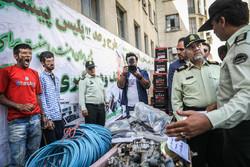 کشفیات کلانتری های تهران در طرح رعد