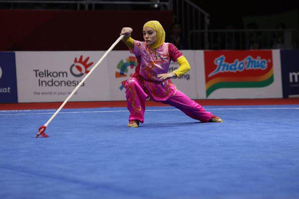 Wushu'da İranlı kadın sporcudan büyük başarı