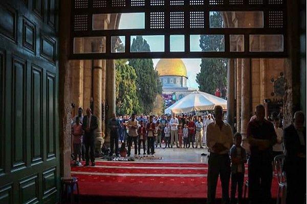 اقامة صلاة عبد الاضحى في فلسطين