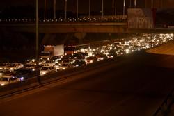 ترافیک آزادراه کرج محدوده پل حصارک سنگین است
