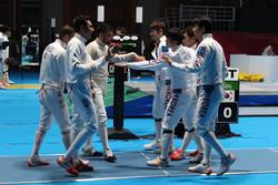 پیروزی تیم ملی شمشیربازی مقابل کویت در جام جهانی لهستان