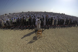 مراسم نماز عید قربان در بندر ترکمن