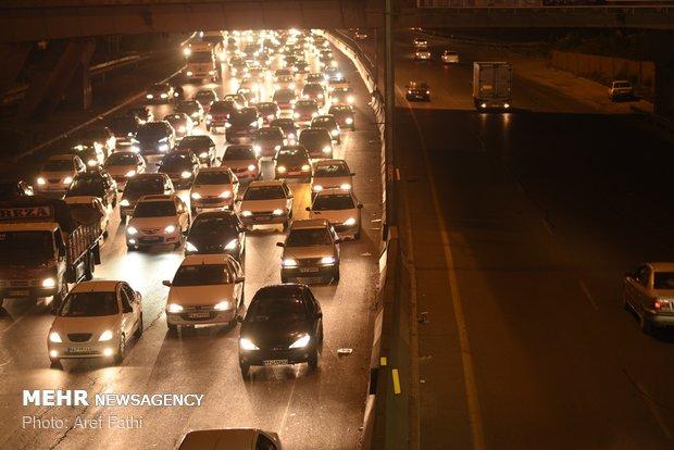 ترافیک نیمه سنگین در خروجی های غربی تهران