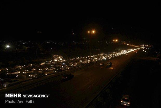 ترافیک سنگین در محورهای کرج، چالوس و هراز