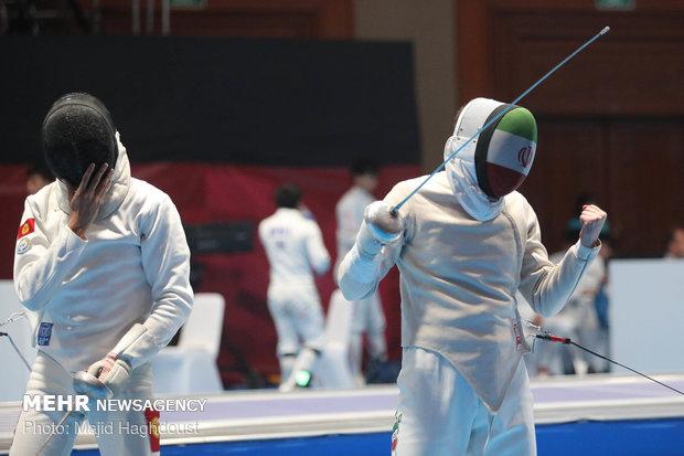 Iranian saber fencers Abedini, Pakdaman improve world ranking