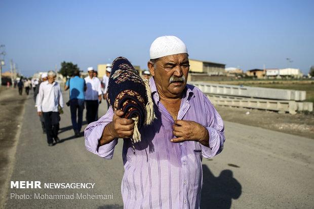 نماز عید قربان و مراسم ذبح قربانی در بندر ترکمن