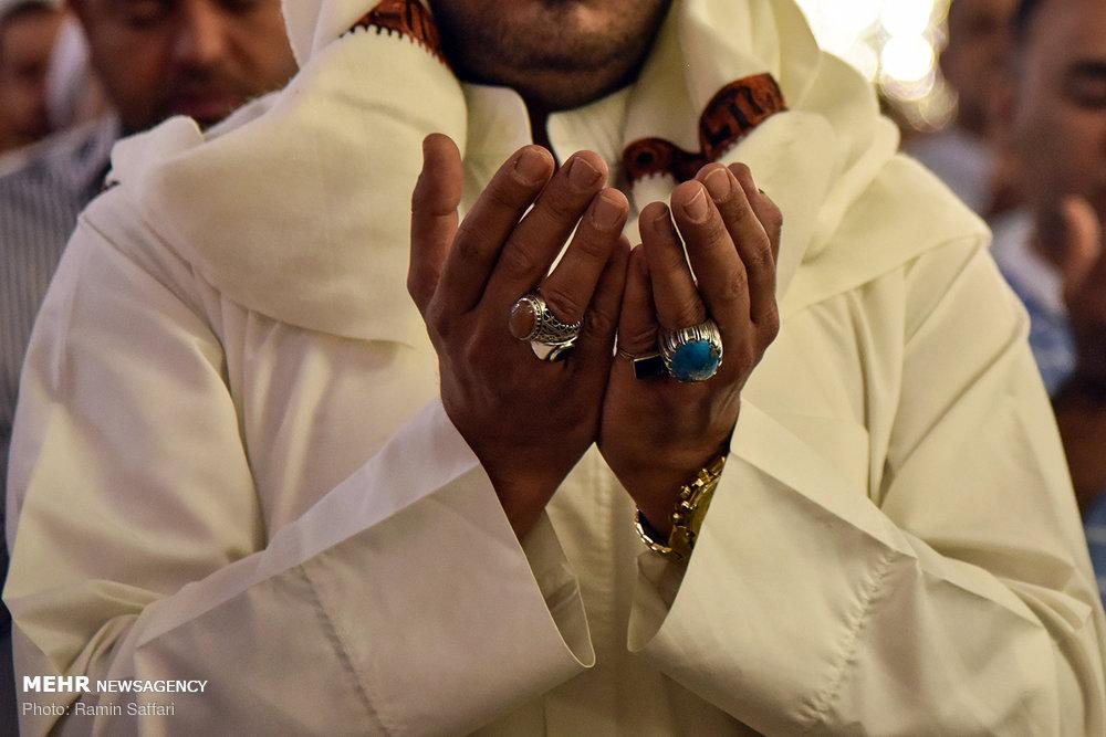 Eid al-Adha prayers at Imam Reza shrine