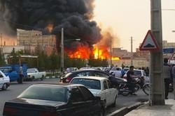 آتش سوزی مغازه مکانیکی در گرگان/ علت حادثه در دست بررسی است