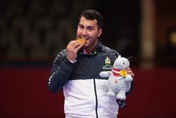 گنج زاده تنها طلای ایران را کسب کرد/ پایان کار ایران با ۵ مدال