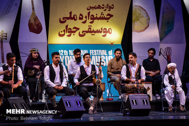 Closing ceremony of folklore section at National Festival of Youth Music