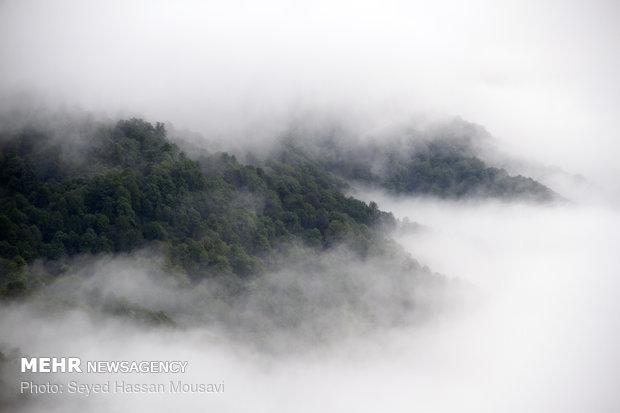 اطلالة رائعة من أعلى مرتفعات سهول مازندران