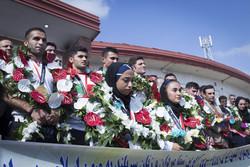 گلستان میں ایشیائی کھیلوں ميں کامیاب کھلاڑيوں کا استقبال