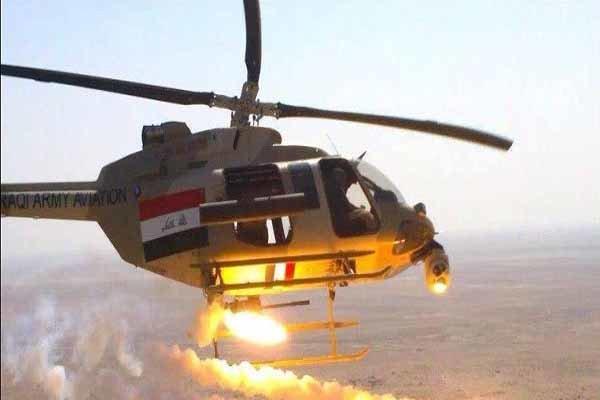 حملات سنگین بالگردهای عراقی به مواضع داعش در شمال شرق بعقوبه