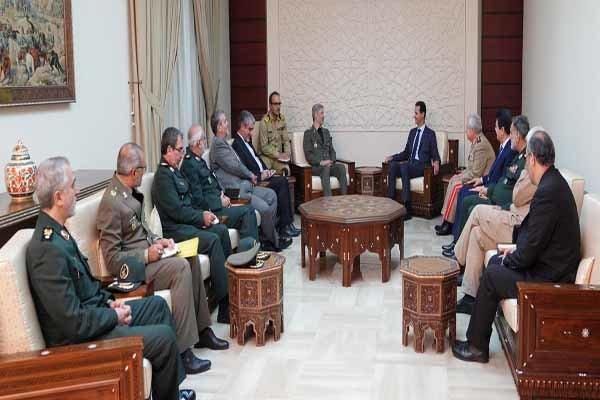 ایرانی وزير دفاع کی شام کے صدر بشار اسد سے ملاقات