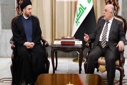 تاکید «حیدر العبادی» و «سید عمار حکیم» بر لزوم کمک به دولت آتی عراق برای تحقق ثبات امنیتی