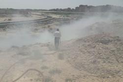 حریق ناشی از زباله سوزی گسترده در «بهارستان» اطفا شد