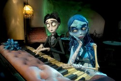 "A scene from ""Corpse Bride"" by Tim Burton and Mike Johnson"