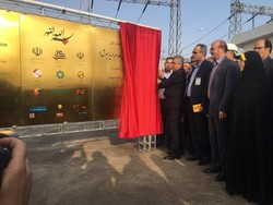 Iranian Energy Minister Reza Ardakanian inaugurating Iran's biggest wind farm in northwestern Qazvin Province on Monday