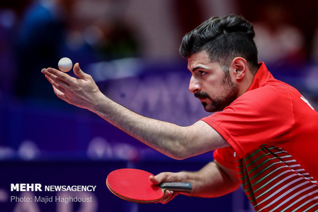 Iran vs Thailand in table tennis event of 2018 Asian Games