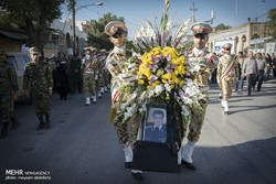 Funeral ceremony of martyr pilot 'Fatahi' held in Kermanshah