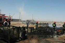  حریق کارخانه صنعتی در کرمان اطفاء شد