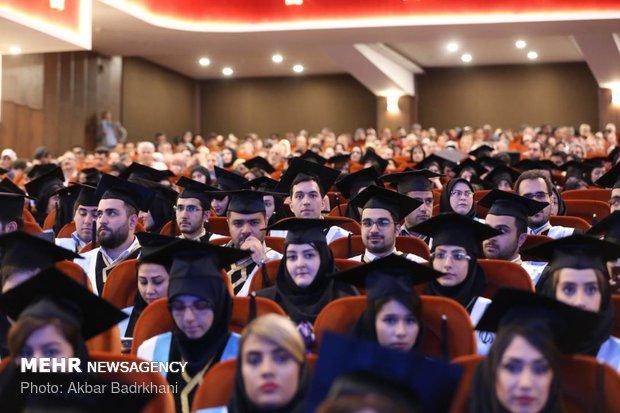 شہید بہشتی میڈیکل یونیورسٹی سے فارغ التحصیل ہونے والے طلباء کا جشن