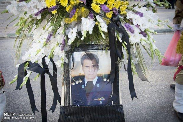 Funeral ceremony of martyr pilot 'Fatahi' held in Kermanshah