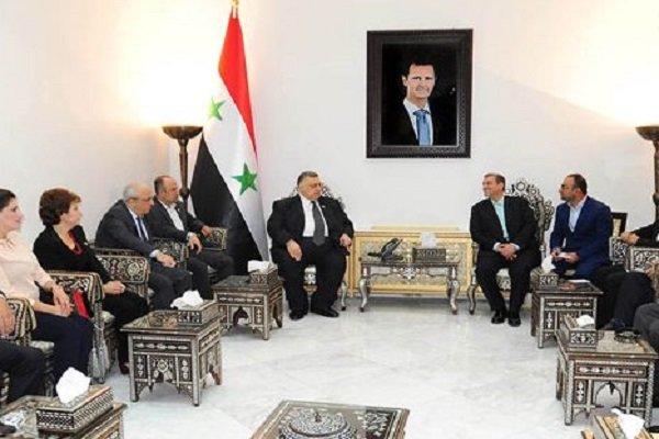 Iran, Syria discuss parliamentary coop.