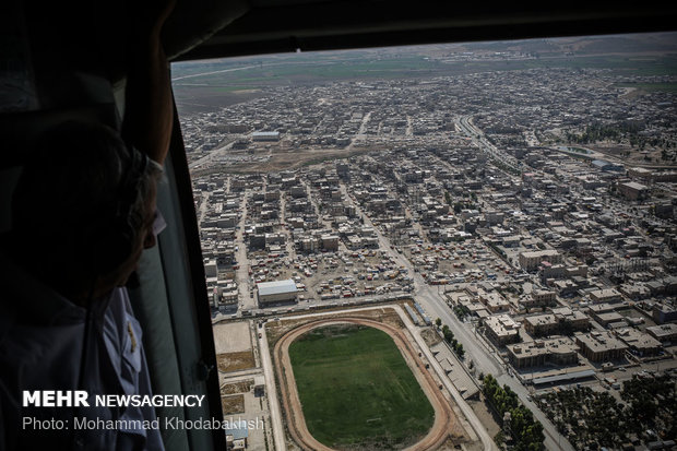 Aerial shots of Kermanshah quake-hit areas after 290 days