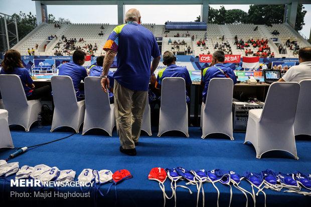 Iran water polo team loses to Kazakhstan