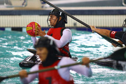 VIDEO: Iranian women claim title of canoe polo at Asian Games