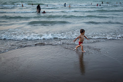Beach tourism at Caspian Sea