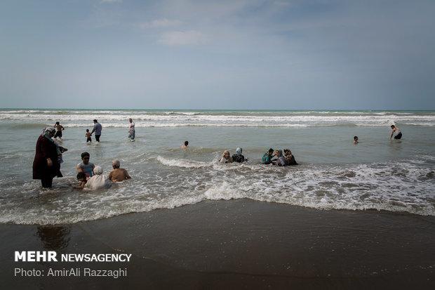 Beach tourism at Caspian Sea