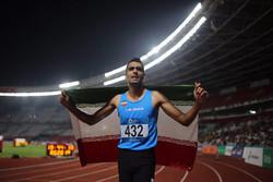 درخشش ورزشکار چهارمحالی در رقابت های دوومیدانی آسیا