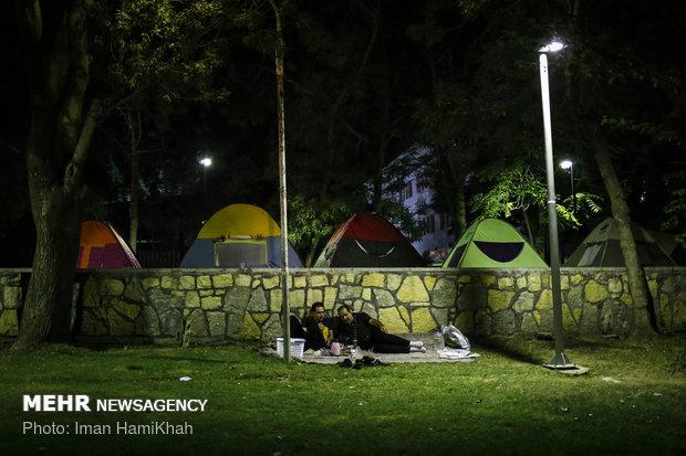 همدان ملجأ الإيرانيون في الصيف الحر